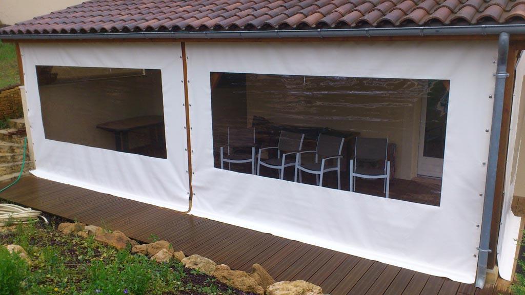 toile PVC tendue